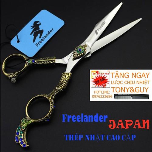 Kéo cắt tóc 6 inch nhật bản freelander fr07 phượng hoàng đẹp cá tính, sắc bén tặng bao kéo kasho và 1 cây lược tony&guy
