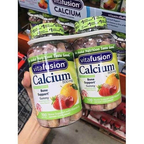 Kẹo Dẻo Bổ Sung Canxi Vitafusion Calcium 500Mg