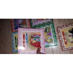 set 10 cuốn tập tô màu nhân vật truyện cổ tích có 10 mẫu khác nhau