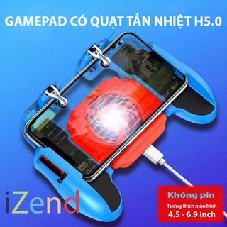 Tay cầm game có quạt tản nhiệt kèm nút bắn hỗ trợ game PUBG Freefire ROS mobile H5.0 - H5QUẠT thumbnail