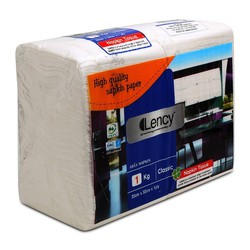 Khăn giấy ăn Lency Napkin 33cmx33cm gói 1kg