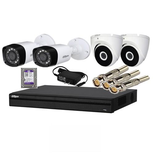 Chọn Bộ 4 Camera Dahua 2.0 Full HD 1080P kèm ổ cứng 1T Chính Hãng Giá Tốt Bảo Hành 2 Năm - Chọn Bộ 4 Camera Dahua 2.0