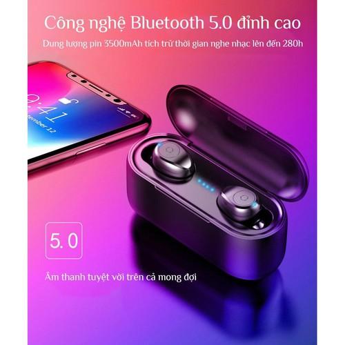 Tai nghe Bluetooth kiêm pin sạc dự phòng Amoi F9 5 0 dc3525