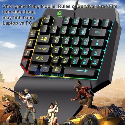 Bàn Phím Bán Cơ 1 Tay Free Wolf K15 Gaming Bàn Phím Cho PUBG OW LOL 35 Phím