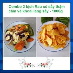 Combo 2 bịch 500g-Đặc sản Đà Lạt-Rau củ-quả-Khoai lang sấy-giòn-sấy khô