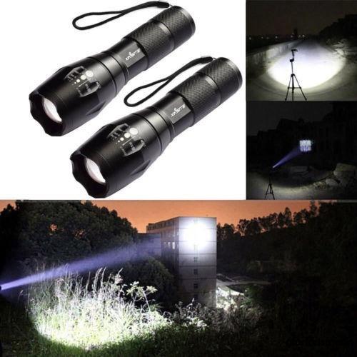 Đèn pin 5 chế độ đèn LED CREE XM L T6 ánh sáng 18650 dùng đi săn dc2055