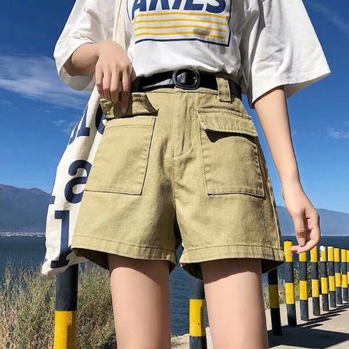 Quần short jean nữ trơn xinh