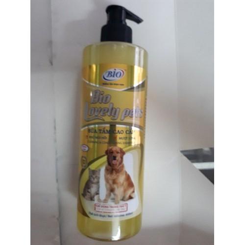 Sữa tắm dưỡng lông chó mèo siêu mượt, khử mùi hôi Bio Lovely Pet 450ml