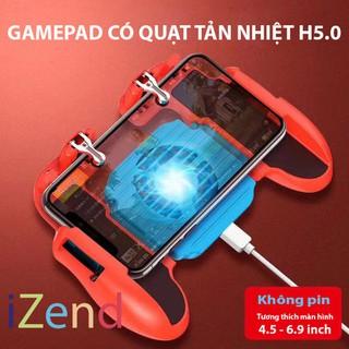Tay cầm game có quạt tản nhiệt kèm nút bắn hỗ trợ game PUBG Freefire ROS mobile H5.0 - H5.0QUẠT thumbnail