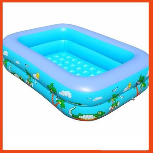 Bể bơi phao bơi 2 tầng 1 2m cho bé Tặng keo vá bể 1 2m 3 3 3