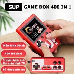 Máy chơi game 4 nút cầm tay 400 trò chơi sup game box 400 in 1 Plus