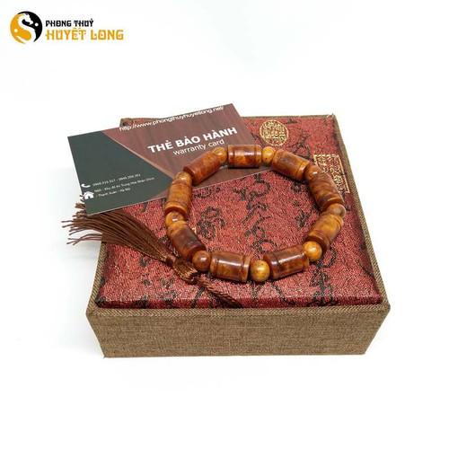 Vòng tay gỗ Nu Huyết Long đốt trúc 10mm vòng tay gỗ phong thủy may mắn tài lộc
