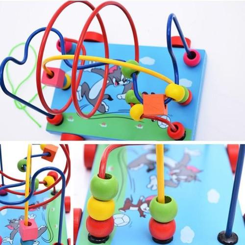 Đồ chơi xe gỗ, game xâu chuỗi luồn hạt gỗ, đồ chơi gỗ xâu chuỗi hạt rèn kỹ năng khéo léo cho bé giúp trẻ kích thích giác quan một cách toàn diện.