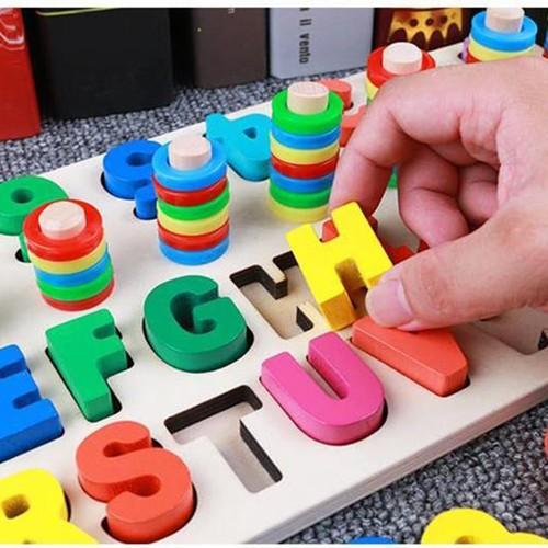 Bảng chữ cái và số cho bé kèm hình khối cột tính bậc thang, đồ chơi học tập, bảng ghép hình bằng gỗ thuộc giáo cụ Montessori giúp phát triển trí tuệ và kỹ năng cho trẻ. - 11151145 , 19106552 , 15_19106552 , 282800 , Bang-chu-cai-va-so-cho-be-kem-hinh-khoi-cot-tinh-bac-thang-do-choi-hoc-tap-bang-ghep-hinh-bang-go-thuoc-giao-cu-Montessori-giup-phat-trien-tri-tue-va-ky-nang-cho-tre.-15_19106552 , sendo.vn , Bảng chữ cái