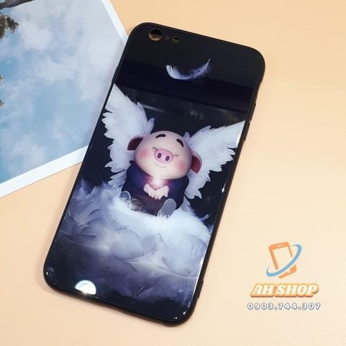 Mua 1 tặng 1 - Ốp lưng mặt kính hình heo cho Iphone Samsung