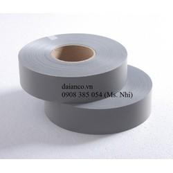 Khuyến mãi sốc 1 cuộn dây phản quang Poly sáng bạc- Bản 2,5cm và 5cm- Dài 100m- hàng sẵn