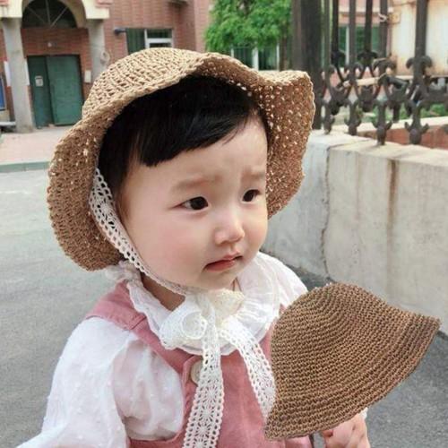 Mũ cói quai ren cho bé yêu - 11765756 , 19110014 , 15_19110014 , 84800 , Mu-coi-quai-ren-cho-be-yeu-15_19110014 , sendo.vn , Mũ cói quai ren cho bé yêu