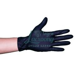 Găng tay cao su Nitrile màu đen không bột hộp 100 cái