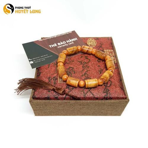Vòng tay gỗ Huyết Long đốt trúc 10mm vòng tay phong thủy vòng tay gỗ phong thủy may mắn tài lộc