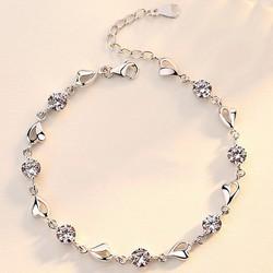 Lắc tay Hương Mùa Hè bạc 925 phong cách Hàn Quốc, vòng tay bạc nữ, lắc tay đính đá thời trang TTB-LT68
