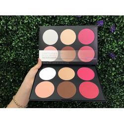 Bảng Tạo Khối Và Phấn Má Hồng 6 Ô BH Cosmetic Contour & Blush 6 Color Palette