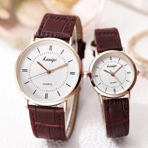 Đồng hồ thời trang cặp nam - nữ KASIQI - GR17 - 11773242 , 19122196 , 15_19122196 , 328000 , Dong-ho-thoi-trang-cap-nam-nu-KASIQI-GR17-15_19122196 , sendo.vn , Đồng hồ thời trang cặp nam - nữ KASIQI - GR17