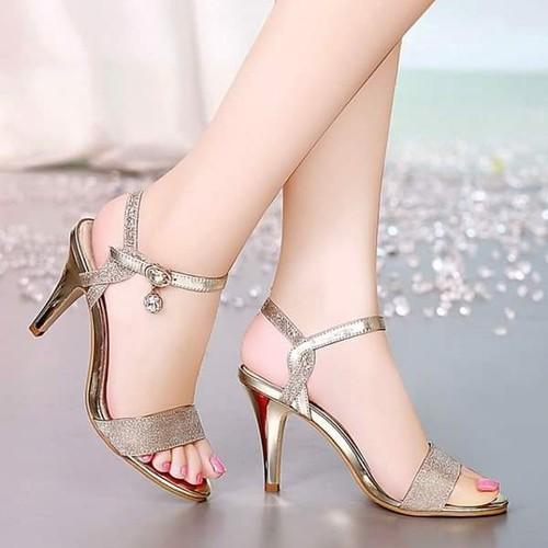 Giày sandal cao gót nữ phối kim tuyến - 11773402 , 19122410 , 15_19122410 , 250000 , Giay-sandal-cao-got-nu-phoi-kim-tuyen-15_19122410 , sendo.vn , Giày sandal cao gót nữ phối kim tuyến