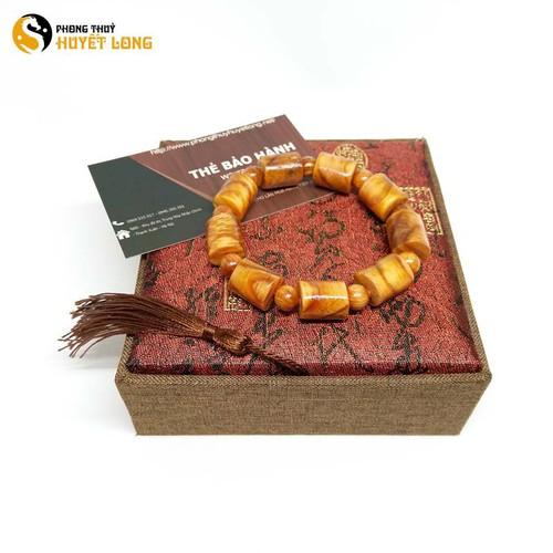 Vòng tay gỗ Huyết Long đốt trúc 12mm vòng tay phong thủy vòng tay gỗ phong thủy may mắn tài lộc