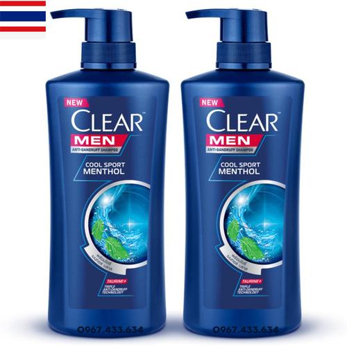 Combo 2 chai Dầu gội Clear Men Nhập khẩu Thailand 450ml
