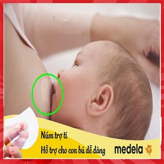 Núm trợ ti cao cấp MEDELA cho bé chính hãng Núm trợ ti ngực silicon mềm hỗ trợ mẹ cho bé bú. - HĐ54 thumbnail