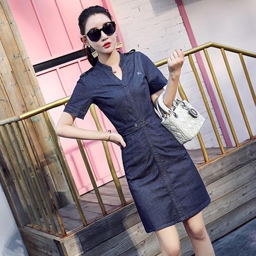 Đầm suông nữ Jean Hàn Quốc D4038