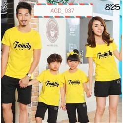 áo thun gia đình phối chữ family