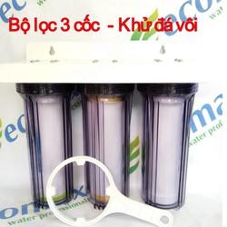 Bộ 3 cấp lọc thô lọc nước ăn uống 10 inch trong - Bộ lọcnước khử đá vôi