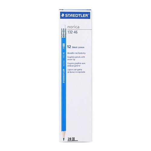 Hộp bút chì gỗ Staedtler 132 46 màu xanh dương  loại ruột 2B