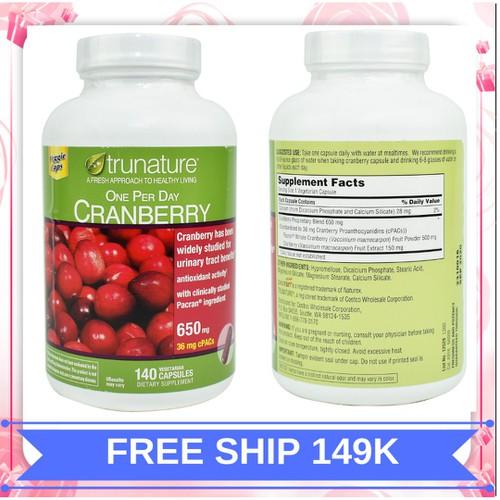 Viên uống trunature cranberry hỗ trợ đường tiết niệu|vien uong trunate cranberry xuất xứ Mỹ 140 viên - 11783271 , 19139030 , 15_19139030 , 720000 , Vien-uong-trunature-cranberry-ho-tro-duong-tiet-nieuvien-uong-trunate-cranberry-xuat-xu-My-140-vien-15_19139030 , sendo.vn , Viên uống trunature cranberry hỗ trợ đường tiết niệu|vien uong trunate cranberry