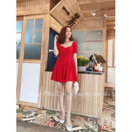 Đầm thun cát nữ đỏ
