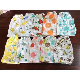 combo 10 Quần chục đùi cotton giấy cho bé trai và bé gái - QUATE239