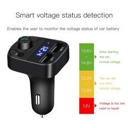 Thiết Bị Thu Phát Bluetooth 5.0 Phát Nhạc và Đài FM Với 2 cổng sạc USB 3.1A Cho Xe ô Tô X22