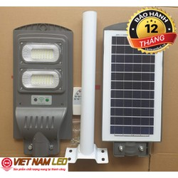 Đèn đường led năng lượng mặt trời 60W, pin 3,2v, Lithium 15Ah, điều khiển từ xa + Cần đèn, vnled.vn, vietnamled.vn, đt 0936395395