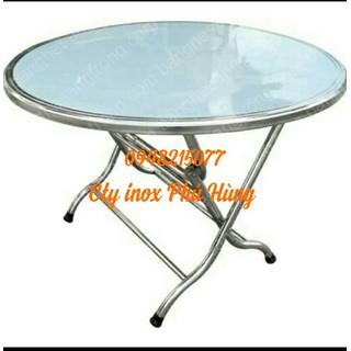 bàn tròn 1m20 inox cao cấp dày 1ly - 120 thumbnail