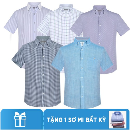 Mua 5 tặng 1- Áo sơ mi tay ngắn Hàn Quốc The Shirts Studio - Combo 6 - 11801536 , 19167329 , 15_19167329 , 1990000 , Mua-5-tang-1-Ao-so-mi-tay-ngan-Han-Quoc-The-Shirts-Studio-Combo-6-15_19167329 , sendo.vn , Mua 5 tặng 1- Áo sơ mi tay ngắn Hàn Quốc The Shirts Studio - Combo 6