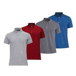Bộ 4 áo thun nam cotton cao cấp Xám lợt Đỏ tươi Xám đậm Xanh dương XSAK