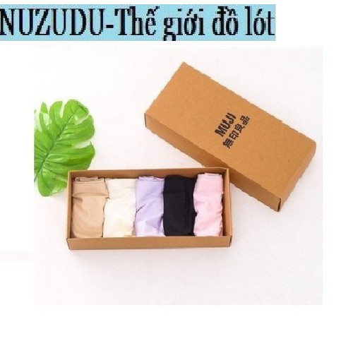 Combo hộp 5 quần lót Muji không đường may Nhật - Quần lót nữ Muji loại 1 tặng kèm hộp và túi xách Nuzudu - 11794789 , 19156913 , 15_19156913 , 270000 , Combo-hop-5-quan-lot-Muji-khong-duong-may-Nhat-Quan-lot-nu-Muji-loai-1-tang-kem-hop-va-tui-xach-Nuzudu-15_19156913 , sendo.vn , Combo hộp 5 quần lót Muji không đường may Nhật - Quần lót nữ Muji loại 1 tặng