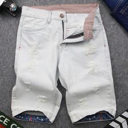 [Freeship] Quần short jean nam xanh bạc vải đẹp DD32 shop ĐỊCH ĐỊCH