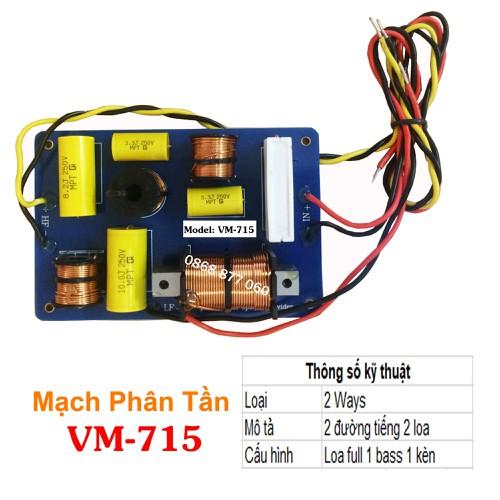 Mạch phân tần- Phân tần cho loa full 1 bass 1 kèn- VM-715- Giá bán 1 cái - 11792827 , 19154406 , 15_19154406 , 457000 , Mach-phan-tan-Phan-tan-cho-loa-full-1-bass-1-ken-VM-715-Gia-ban-1-cai-15_19154406 , sendo.vn , Mạch phân tần- Phân tần cho loa full 1 bass 1 kèn- VM-715- Giá bán 1 cái