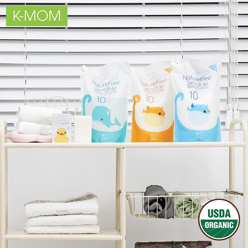 Nước giặt đồ sơ sinh hữu cơ (Organic) K-mom Hàn Quốc KM13127 1300ml