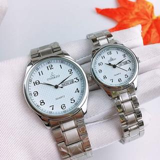 Đồng hồ đôi dây kim loại chính hãng Oshrzo Pure White - 8343G7 thumbnail