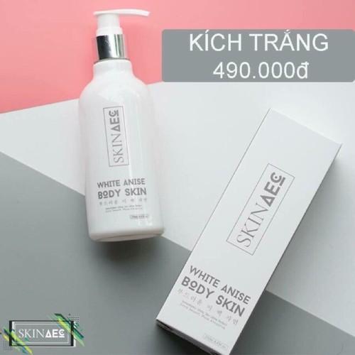 ComBo 2 Sữa Tắm Ủ Kích Trắng Da Than Hoạt Tính Skin AEC White Anise Body Skin