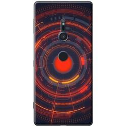 Ốp lưng nhựa dẻo Sony XZ2 mẫu Camera Đỏ