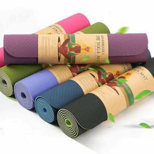 Thảm tập Yoga cao cấp TPE 2 lớp